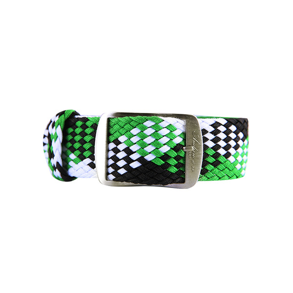Fabric strap Green & White